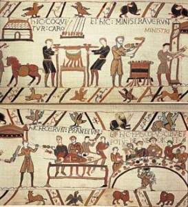 Bayeux Tapestry, cooking