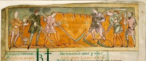 Harvesting from 11th Century Anglo-Saxon Calendar