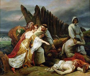 Edith discovering King Harold's corpse on the battlefield of Hastings