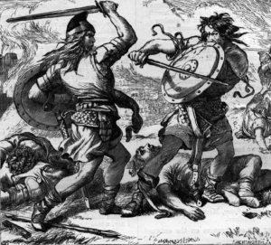 Macbeth fighting Malcolm III