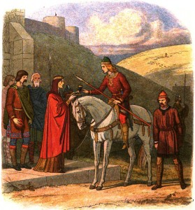 Edward Murdered at Corfe by James William Edmund Doyle