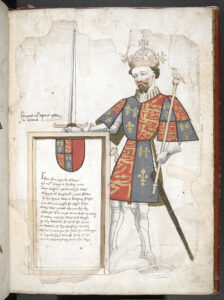 Henry IV with coat of arms