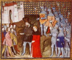 Henry Bolingbroke delivers Richard II to the Londoners